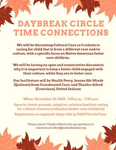 DAYBREAK CIRCLE TIME CONNECTIONS- Noember2020