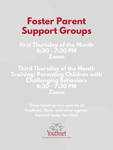 Foster Parent Support Groups Flyer